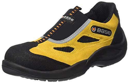 Base Protection - Scarpe antinfortunistiche areate senza lacci, in pelle scamosciata e lycra di alta qualità. Con puntale acciaio, lamina antiforo. Categoria S1P SRC. - Taglia: 42