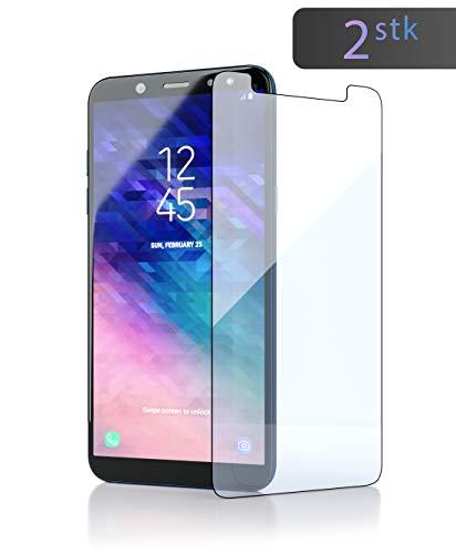 innoGadgets Panzerglas für Samsung Galaxy A6 Plus 2018 (2X) Extrem dünn, Ultra hart (9H) & 100prozent transparent - Panzerfolie, Panzerglasfolie - Anti Fingerabdruck - Einfaches Anbringen ohne Bläschen