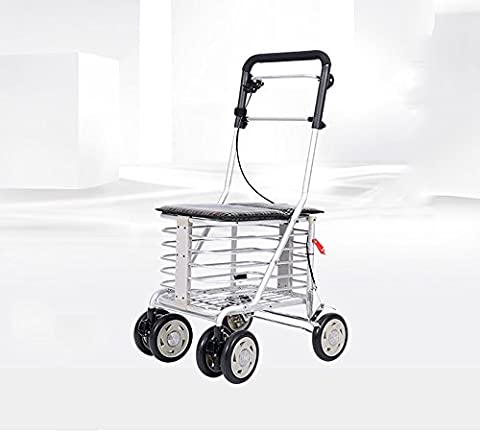 Grocery shopping trolley elderly walker elderly cart small pull carts folding means of transport to help traffic