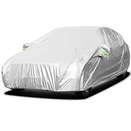 Autoabdeckung Vollgarage Autoplane Wasserdicht Auto Abdeckplane Autogarage 4,8x 1,8 x 1,2m Allwetterschutz Autoschützer