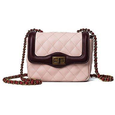 SUNNY KEY-Borsa a tracolla @ Donna Borsa a tracolla PU (Poliuretano) Per tutte le stagioni Casual Sport Cerniera Bottone Bianco Rosa , blushing pink white