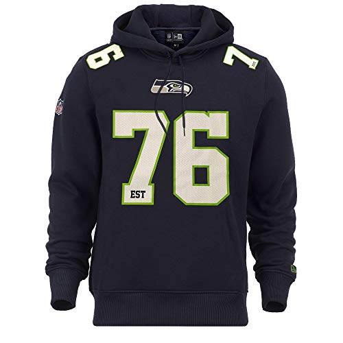 New Era Seattle Seahawks Hoody NFL Established Number Navy - M -