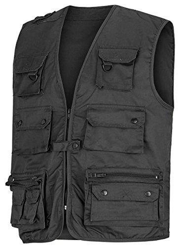 noorsk Angler- Outdoorweste mit vielen Taschen in verschiedenen Farben Schwarz L