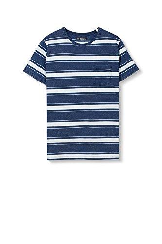 ESPRIT Herren T-Shirt 027ee2k018 Blau (Ink 2 416)
