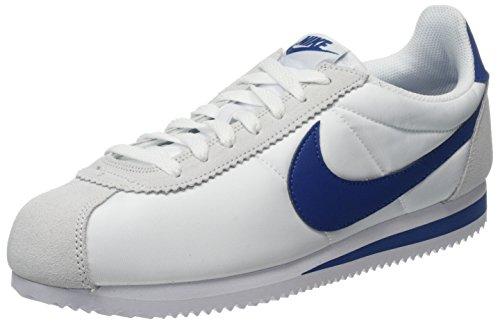 best service 72f19 3b667 Nike Classic Cortez Nylon, Scarpe da Ginnastica Uomo, Grigio (White Gym Blue
