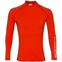 Jlindeberg Aello - Compresión Suave, Hombre, Racing Red, Large