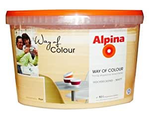 alpina way of colour innenfarbe flair pastell gelb matt 10 liter baumarkt. Black Bedroom Furniture Sets. Home Design Ideas