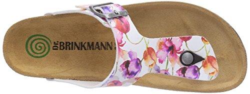 Dr. Brinkmann - 700817, Sabot Donna Multicolore (Mehrfarbig (Weiß/Bunt))