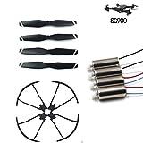 Candybarbar Lama a Vento / pagaia CW / CCW + Motore 3.7v + Anello di Protezione / Cerchio di Protezione per Accessori per Pezzi di Ricambio Drone Sg900 Quadcopter