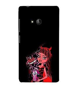 EPICCASE devil girl Mobile Back Case Cover For Nokia Lumia 540 (Designer Case)