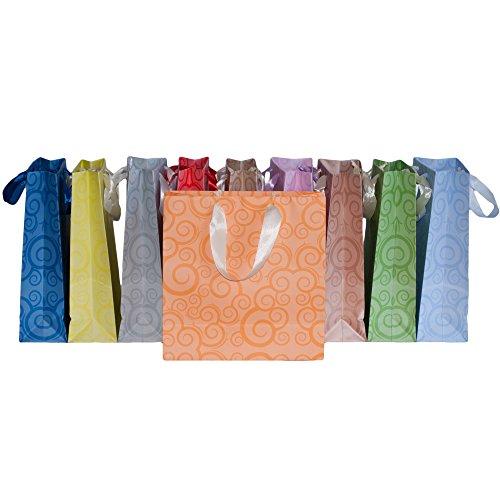 Dazoriginal Groß Geschenktaschen Papier Tragetasche Geschenktüten 10 Farben 25 x 24 x 10cm Papier Partytüten Papiertüten Geschenkbeutel Geschenktaschen Papiertragetaschen Papier Geschenk Taschen Geschenktüte Papiertasche Matt Geschenktütenset