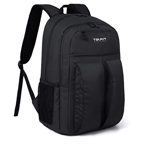 Tourit zaino termico 25 litri zaino borsa frigo zaino picnic borsa termica pranzo viaggio campeggio per uomo donna nero
