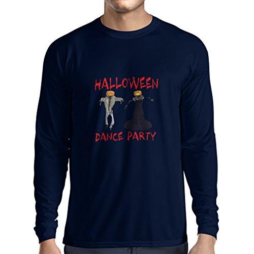 Pinguin Tanz Kostüme (Langarm Herren t shirts Coole Outfits Halloween Tanz Party Veranstaltungen Kostümideen (Medium Blau)