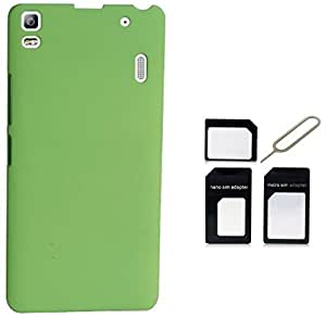 Tidel Green Back Cover For Lenovo K3 Note With MICRO/NANO SIM ADAPTER