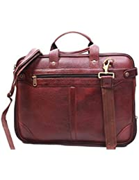 SS Leather Pure Light Brown Leather Laptop Bag
