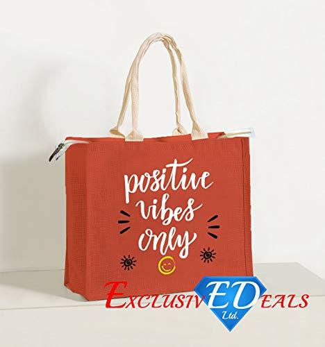 Jute Einkaufstasche Sackleinen Large Eco Wiederverwendbare Geschenk Tote Lunch Handtasche–34cm (H) X 41cm (W)
