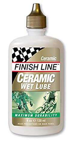 Finish Line Ceramic WET Bicycle Chain Lube, 4-Ounce Drip Squeeze