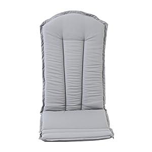 Ambientehome Sitzkissen und Rückenkissen für Adirondack Chair Falun, grau, Hochlehner Auflage Kissen
