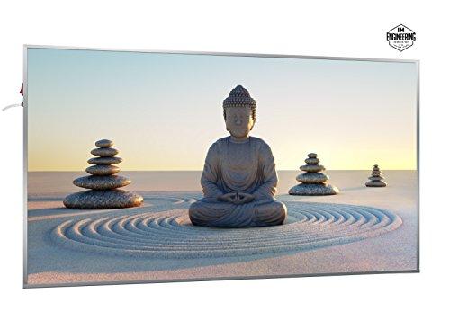 1200W Infrarotheizung mit Bild (Buddha) - Smart & Nice Serie mit Ein-/Ausschalter - Fern Infrarotheizung mit 7 Jahren Garantie