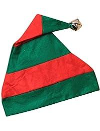 Islander Fashions - Cappello da elfo a strisce di Natale con accessori  fantasia in campana color 1def36a0a3ba