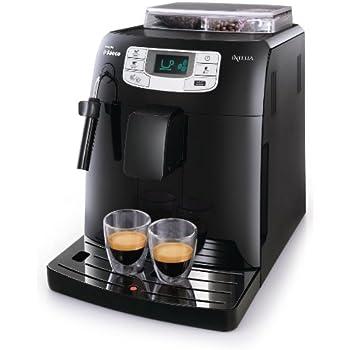 Saeco HD8751/11 Intelia Kaffeevollautomat (Keramikmahlwerk, Dampfdüse) schwarz