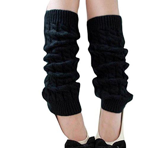 Vovotrade Art- und Weisefrauen-Winter-warme Bein-Wärmer-gestrickte Häkelarbeit-lange Socken!!! (Für 80er Jungs Jahre Mode)
