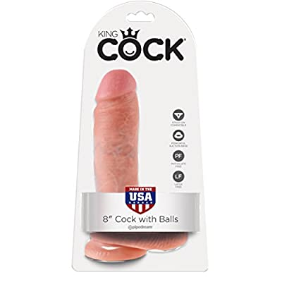 King Cock 8 Inch Realistic Dong With Balls