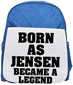 Born as JENSEN, became a legend printed kid's Bleu  backpack, Cute backpacks, cute small backpacks, cute Noir  backpack, cool Noir  backpack, fashion backpacks, large fashion backpacks, Noir  fashion b | Prix Très Raisonnable