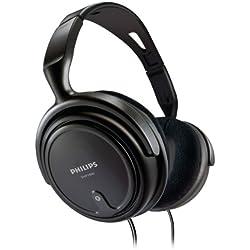 Philips SHP2000 Casque Audio Filaire Extrêmement Confortable avec Coques Enveloppantes, Câble 2m, Noir