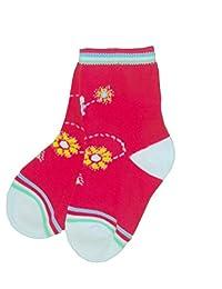Baby Bio Socken bunt mit Blume Gr.86/92