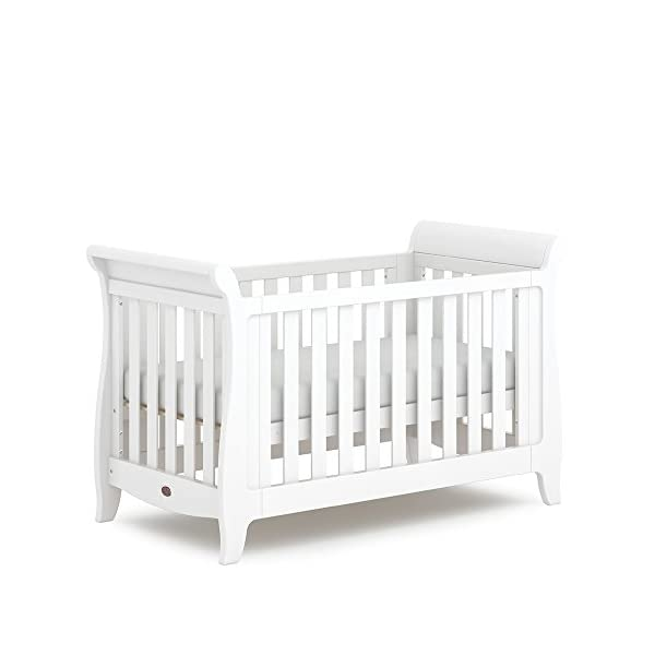 Boori SleighExpandableTM- Barley Boori Converts from cot bed to toddler bed - toddler guard panel sold separately Converts to a full size single bed -L 197cm W 108cm H 110cm-expandableconversion kit included Built from solid australian araucaria 2