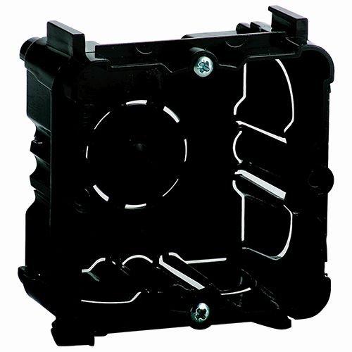 Caja universal para empotrar mecanismos.Dimensiones del hueco de empotrar 71x71x43mm (alto x ancho x profundo)La tapa protectora para impedir la entrada de yeso hay que pedirla aparte.