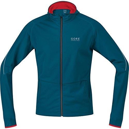 GORE RUNNING WEAR, Maglia con cappuccio Uomo, Morbida e versatile, GORE Selected Fabrics, ESSENTIAL Hoody, Taglia L, Blu/Rosso, SHESSE293505