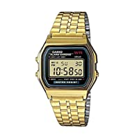 Casio Women's LCD Dial Stainless Steel Digital Watch - A159WGEA-1DF