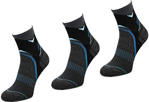 e Lauf-Socken | Sneaker | Funktionssocken | Marathon | Trail | Jogging-Socken | Joggen | Laufen | Running | RUN2 Black/Torquoise 35-38 ()