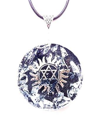 Collier pendentif Orgonite Etoile de David, pierres, cristaux, Nouvel Age, Reiki