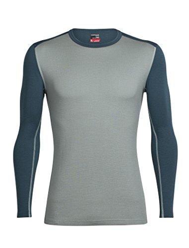 Ls Pullover Top (Icebreaker Herren Mens Tech Top LS Crewe Funktionsshirt, Drift/Harmony, M)