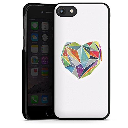 Apple iPhone X Silikon Hülle Case Schutzhülle Love Liebe Herz Hard Case schwarz