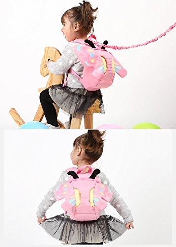 E-Bestar Unisex Kinder Rucksack süßer Kinder Anti-Verloren Rucksack Baby 3D Kindergarten Tasche süßer Rucksack Cute Backpack for Children Pink