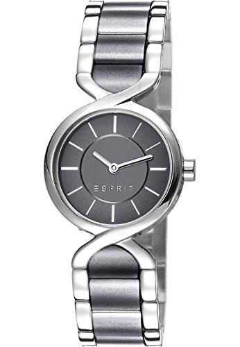 Esprit-Damen-Armbanduhr-Analog-Quarz-One-Size-grau