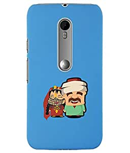 KolorEdge Back Cover For Motorola Moto G 3rd Gen - Sky Blue (1211-Ke15100MotoG3SBlue3D)