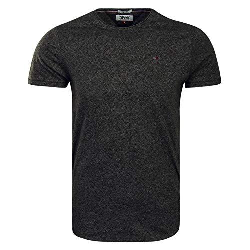 Tommy Hilfiger Herren T-Shirt TJM Essential Jaspe Tee Grün (Forest Night 397), Small (Herstellergröße:S)