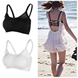#9: Lady Heart 6 strap padded bra(removable pads)size:free combo black+ white