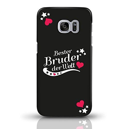 """JUNIWORDS Handyhüllen Slim Case für Samsung Galaxy S7 mit Schriftzug """"Bester Bruder der Welt"""" - ideales Weihnachtsgeschenk für den Bruder - Motiv 4 - Handyhülle, Handycase, Handyschale, Schutzhülle fü motiv 1"""