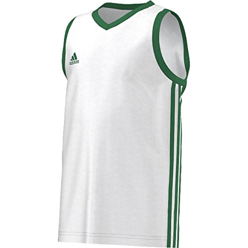adidas Jungen T-shirt Y COMMANDER J Weiβ/Grün, 140 - Adidas Kinder Basketball