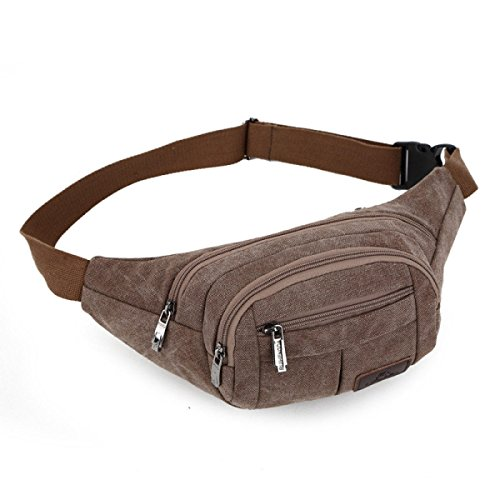 Pocket Travel Escursioni All'aperto Sport Hip Pack,Brown Brown