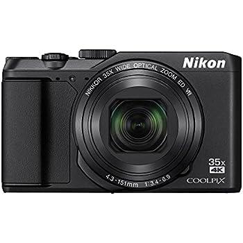"""Nikon Coolpix A900 - Cámara compacta de 20.3"""" (WiFi, Bluetooth, 4K UHD, CMOS, Nikkor, modo PSAM, zoom 35x, reducción de la vibración, AF, TFT LCD inclinable) negro"""