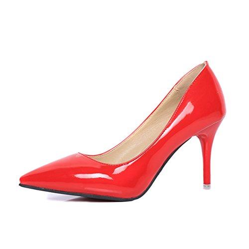 Printemps a fait des talons hauts/Chaussures de mariage/Chaussures à talon cuir sexy peu profond B