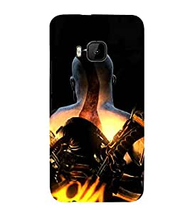 OM Namah Shivya, Red, Shiv Stuti, Printed Designer Back Case Cover for HTC One M9 :: HTC One M9S :: HTC M9