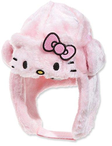 Tschapka Pelz Baby Kinder Mädchen Hello Kitty rosa und weiß von 9bis 36Monaten (Im Pelz Mädchen)